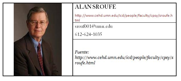 Contacto Alan Sroufe