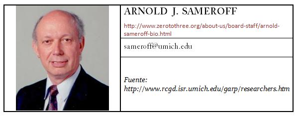 Contacto Arnold  J. Sameroff